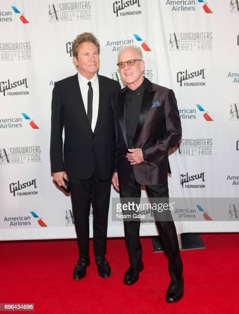 Robert Lamm and James Pankow attend the 48th Annual Songwriters Hall Of Fame Induction and Awards Gala at New York Marriott Marquis Hotel on June 15...