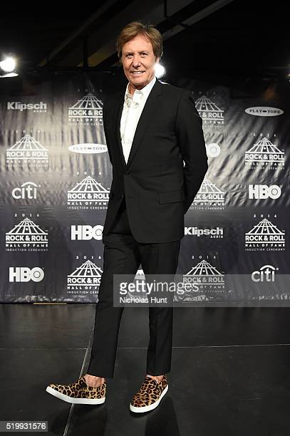 Robert Lamm of Chicago poses in the press room at the 31st Annual Rock And Roll Hall Of Fame Induction Ceremony at Barclays Center of Brooklyn on...