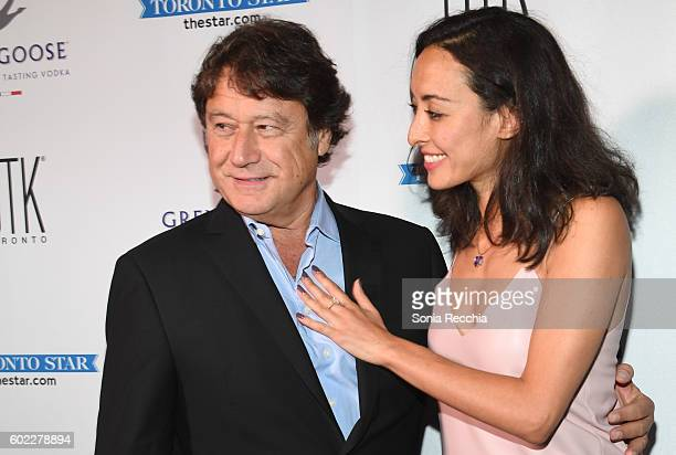 Robert Lantos and Vanessa Morcom attend the film premiere after party for Serendipity Point Films' 'Below Her Mouth' at Supper Suite by STK on...