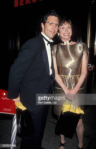 Robert Levine and Mary Tyler Moore during Literacy Volunteers of New York Perform Readings at Lincoln Center in New York City May 16 1995 at Lincoln...