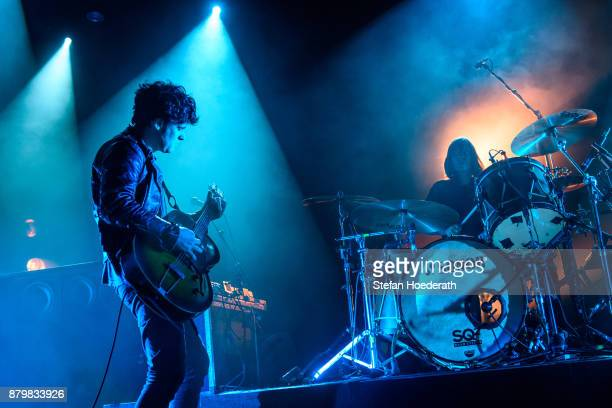 Robert Levon Been and Leah Shapiro of Black Rebel Motorcycle Club perform live on stage during a concert at Columbiahalle on November 25 2017 in...