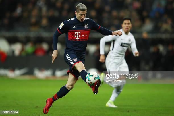 Robert Lewandowski of Bayern Muenchen during the Bundesliga match between Eintracht Frankfurt and FC Bayern Muenchen at CommerzbankArena on December...