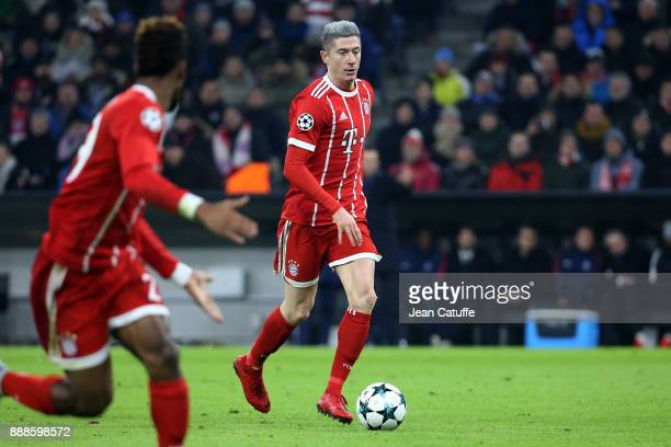 Robert Lewandowski of Bayern Munich during the UEFA Champions League group B match between Bayern Muenchen and Paris SaintGermain at Allianz Arena on...