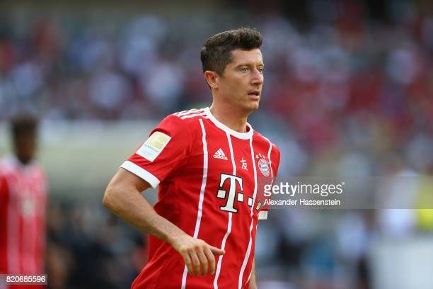 Robert Lewandowski of Muenchen looks on during the International Champions Cup Shenzen 2017 match between Bayern Muenchen and AC Milan at on July 22...