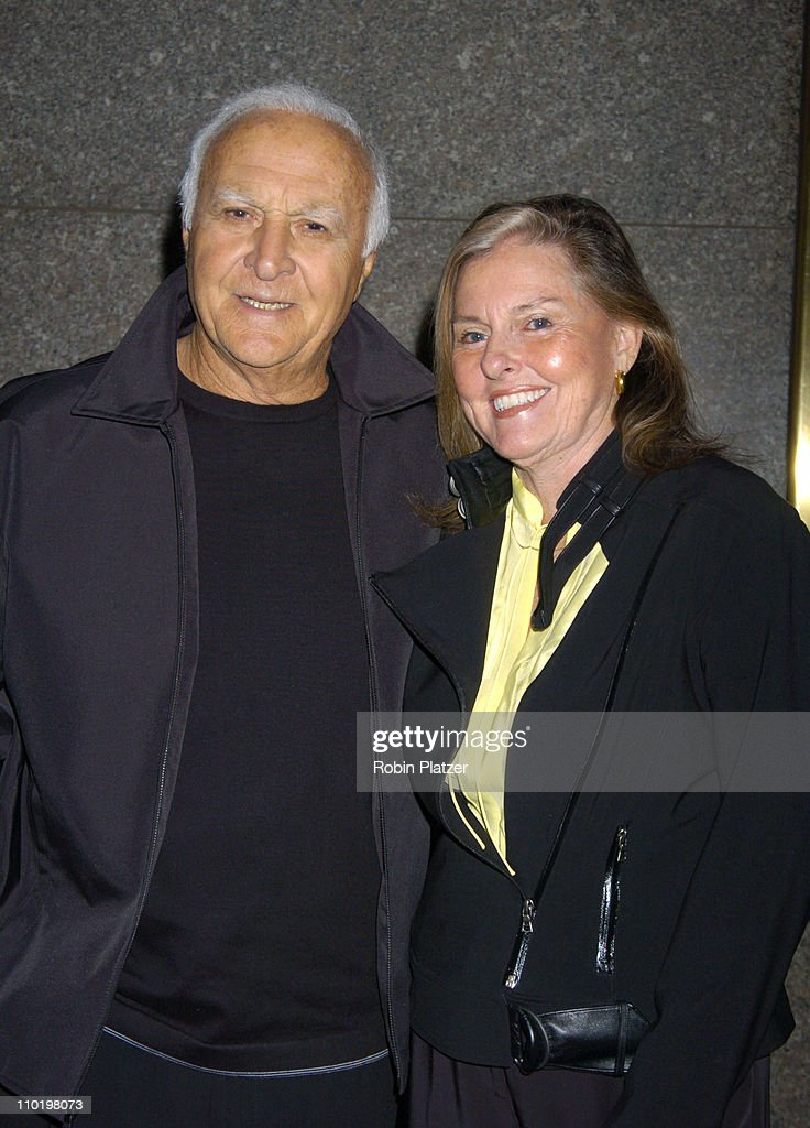 Robert Loggia and wife Audrey O'Brien during 'The Sopranos' Fifth Season Premiere at Radio City Music Hall in New York City New York United States