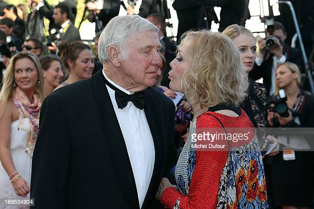 Robert Malloy and Kim Novak attend the 'Zulu' Premiere and Closing Ceremony during the 66th Annual Cannes Film Festival at the Palais des Festival on...