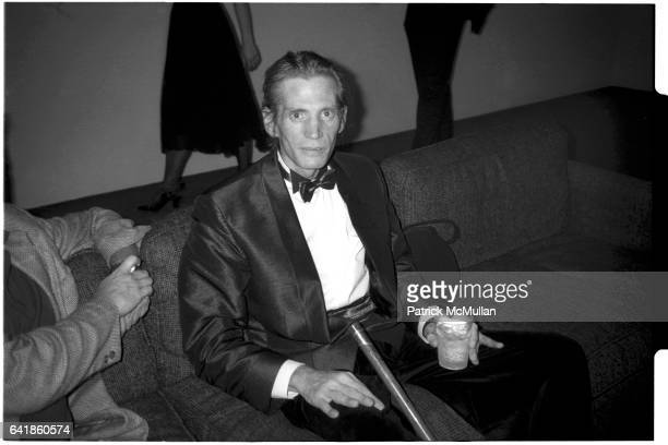 Robert Mapplethorpe at his opening at the Whitney Museum of American Art Wednesday July 27 1988