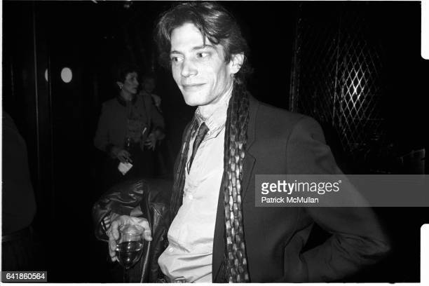 Robert Mapplethorpe at the Wool Bureau Party at the Saint January 1985