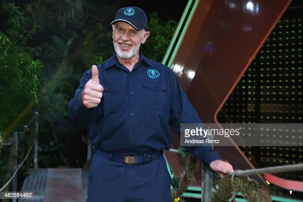 Robert McCarron aka Dr Bob attends the 1st live show of the television show 'Ich bin ein Star lasst mich wieder rein' on July 31 2015 in Huerth...