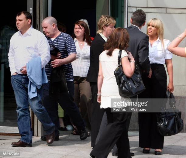 Robert McCartney's fiancee Bridgeen Hagans outside Belfast Crown Court Belfast as James McCormick and Joseph Gerard Emmanuel Fitzpatrick leave the...