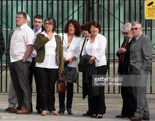 Robert McCartney's sisters Catherine Donna Gemma and Paula and other family members outside Belfast Crown Court Belfast where Terence Malachy Davison...