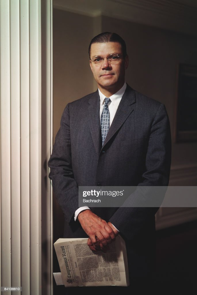 Robert McNamara pictured as Secretary of Defense during the Kennedy Administration 1962 Washington DC