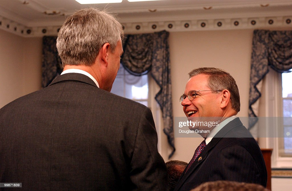 Robert Menendez DNJ during a breakfast hosted by his office for democratic memberselect