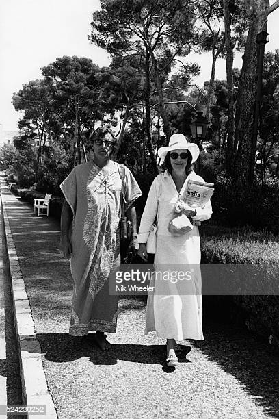 Robert Mitchum and His Wife On Vacation at Cap d'Antibes