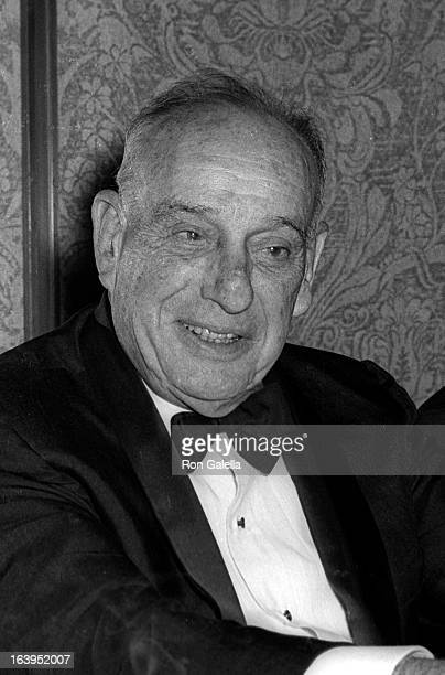 Robert Moses attends Robert F Kennedy Awards Dinner on May 11 1969 at the Americana Hotel in New York City
