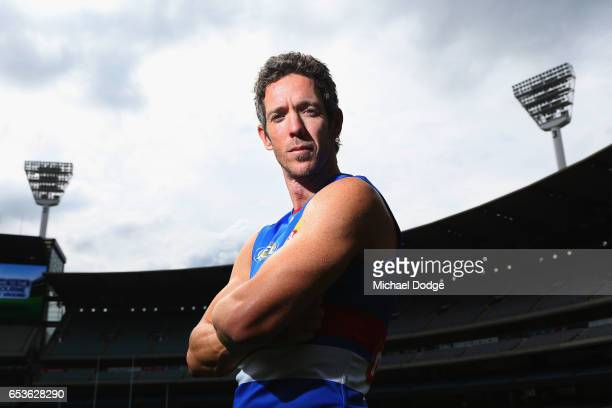 Robert Murphy of the Bulldogs poses during AFL Captains Day at Melbourne Cricket Ground on March 16 2017 in Melbourne Australia