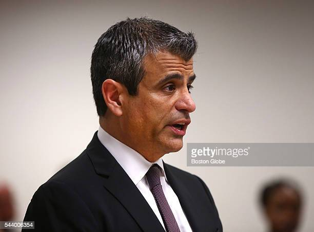 Robert N Klieger attorney for Sumner Redstone addresses Judge George Phelan not pictured Attorneys representing various factions of Sumner M...
