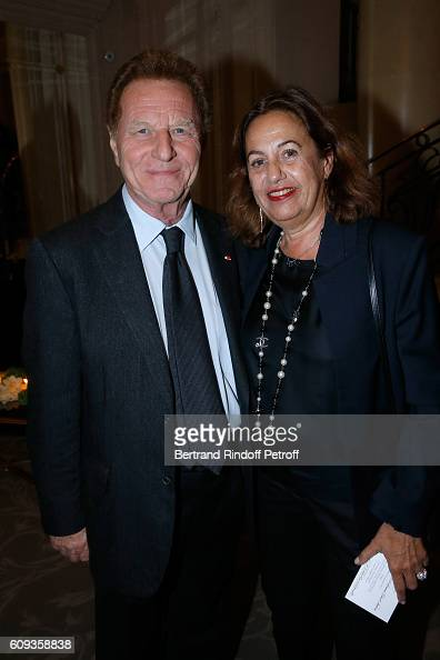 Robert Namias and his wife Anne Barrere attend the Charity Dinner to Benefit 'Claude Pompidou Foundation' following the 'Cezanne et Moi' movie...