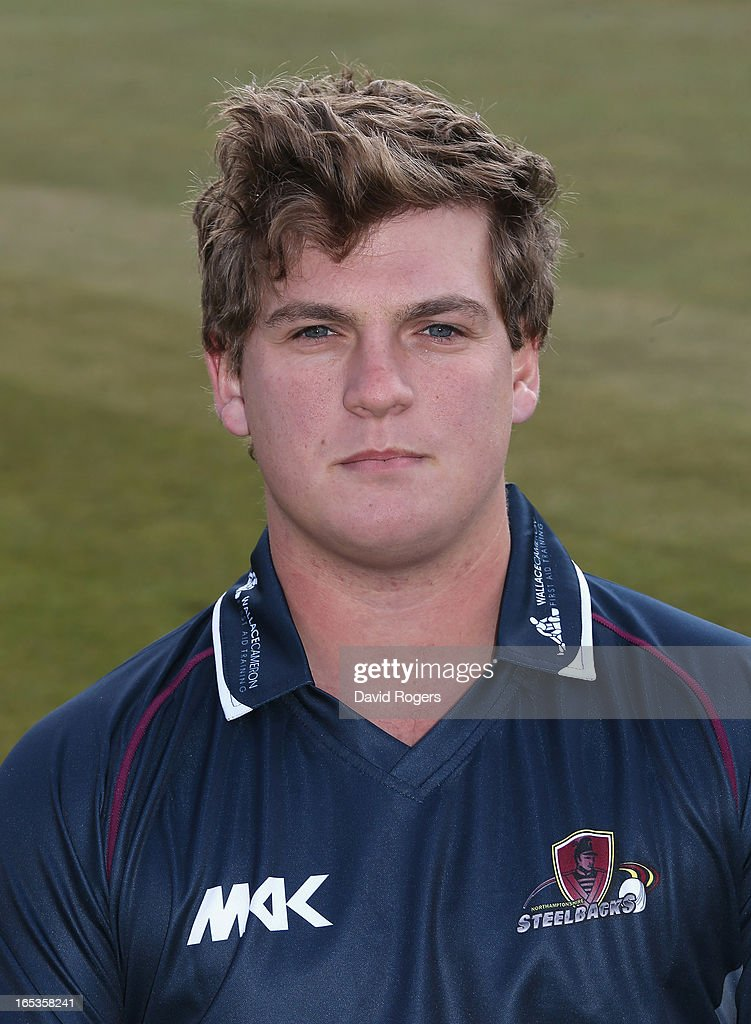 Robert Newton of Northamptonshire CCC poses for a portrait wearing the T20 kit at the County Ground on April 3, 2013 in Northampton, England.