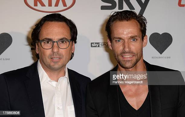 Robert Niemann and Sven Hannawald attend the Sky Bundesliga Season Opening Party at Heart on August 9 2013 in Munich Germany