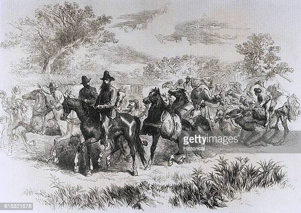 Robert O'Hara Burke and William John Wills set out from the Royal Park in Melbourne to begin their exploration of Central Australia August 20 1862