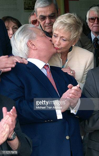 Robert Osborne and Jane Powell during Robert Osborne Honored with a Star on the Hollywood Walk of Fame for His Achievements in Television at 1617...