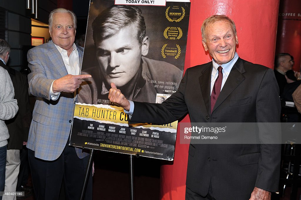 Robert Osborne and Tab Hunter attend 'Tab Hunter Confidential' special screening at Film Forum on October 12 2015 in New York City
