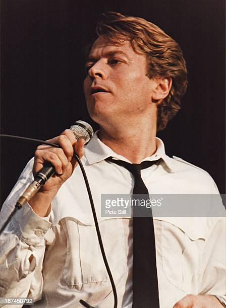 Robert Palmer performs on stage at Villa Park on July 23rd 1983 in Birmingham England