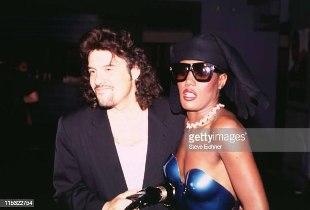 Robert Pastorelli Grace Jones during Robert Pastorelli Grace Jones at Palladium 1992 at Palladium in New York City New York United States