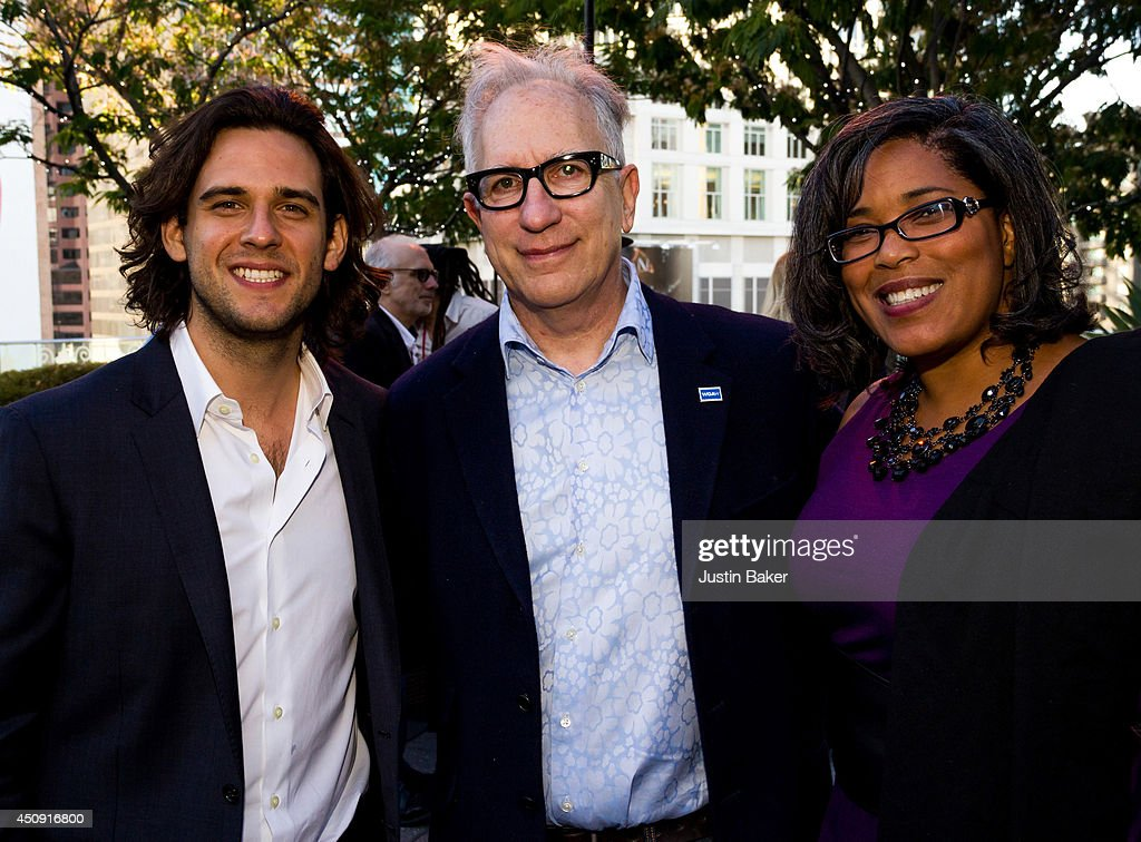 Robert Patino Howard A Rodman and Darrien Gipson attend the SAGWGA Party during the 2014 Los Angeles Film Festival at Target Terrace Lounge on June...