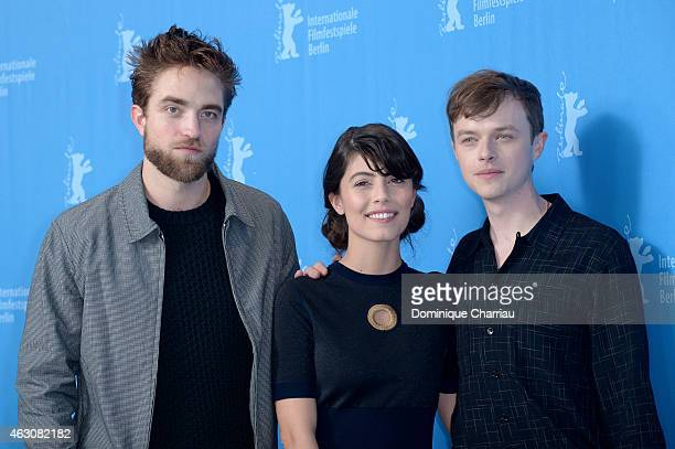 Robert Pattinson Alessandra Mastronardi and Dane DeHaan attend the 'Life' photocall during the 65th Berlinale International Film Festival at Grand...