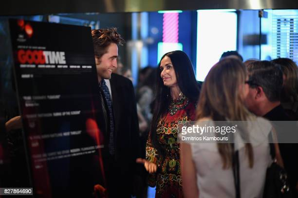 Robert Pattinson and Demi Moore attend 'Good Time' New York Premiere at SVA Theater on August 8 2017 in New York City