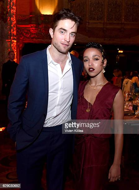 Robert Pattinson and FKA Twigs attend the 2016 Los Angeles Dance Project Gala at The Theatre at Ace Hotel Downtown LA on December 10 2016 in Los...