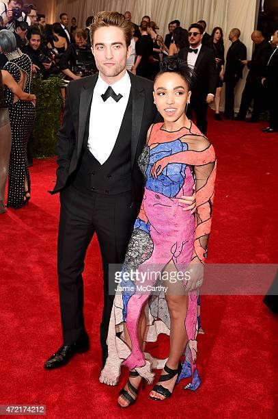 Robert Pattinson and FKA twigs attend the 'China Through The Looking Glass' Costume Institute Benefit Gala at the Metropolitan Museum of Art on May 4...