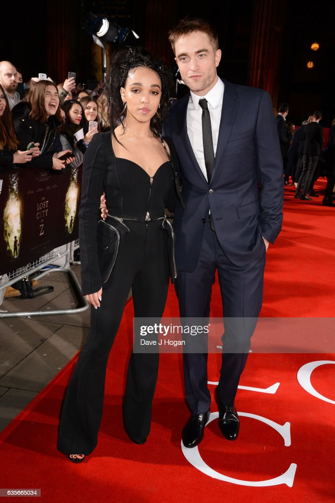Robert Pattinson and FKA Twigs attend the UK premiere of 'The Lost City of Z' at British Museum on February 16, 2017 in London, England.