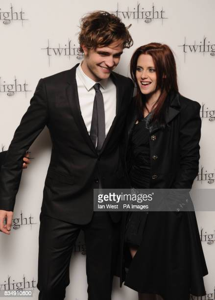 Robert Pattinson and Kristen Stewart arrives at the premiere of Twilight at the Vue West End cinema in central London