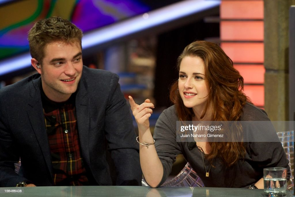Robert Pattinson and Kristen Stewart attend 'El Hormiguero' Tv show at Vertice Studio on November 15, 2012 in Madrid, Spain.