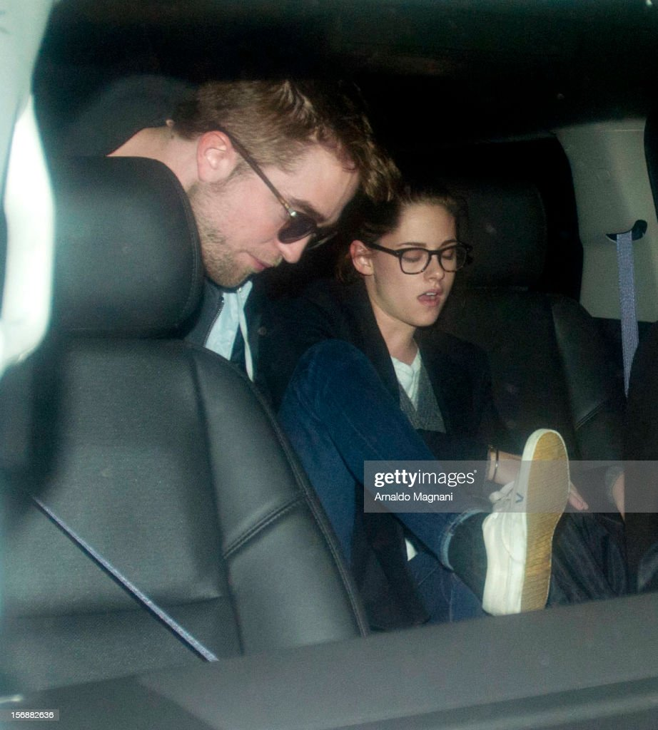 <a gi-track='captionPersonalityLinkClicked' href=/galleries/search?phrase=Robert+Pattinson&family=editorial&specificpeople=734445 ng-click='$event.stopPropagation()'>Robert Pattinson</a> and <a gi-track='captionPersonalityLinkClicked' href=/galleries/search?phrase=Kristen+Stewart&family=editorial&specificpeople=2166264 ng-click='$event.stopPropagation()'>Kristen Stewart</a> sighting at JFK Airport on November 23, 2012 in New York City.