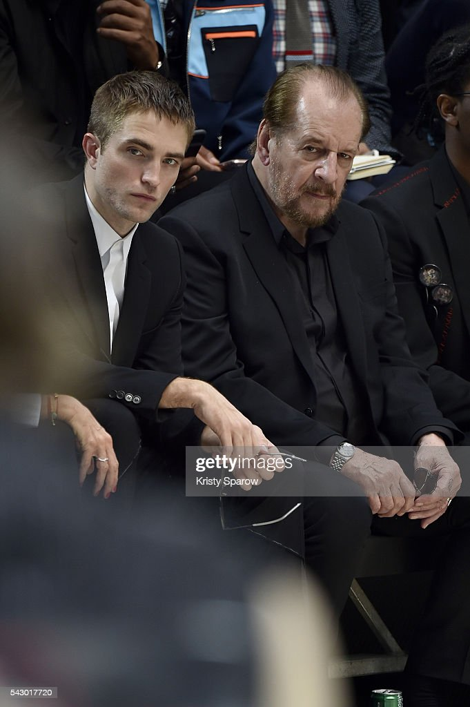 Robert Pattinson and Larry Clark attend the Dior Homme Menswear Spring/Summer 2017 show as part of Paris Fashion Week on June 25, 2016 in Paris, France.