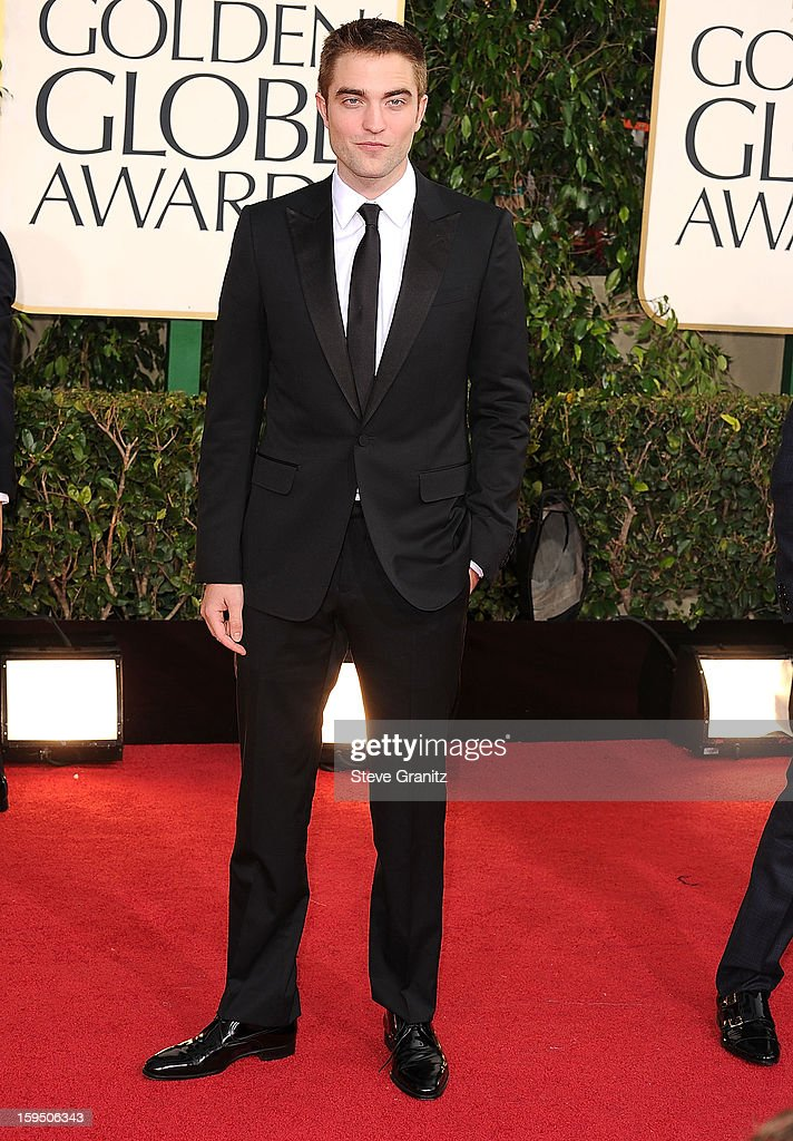 Robert Pattinson arrives at the 70th Annual Golden Globe Awards at The Beverly Hilton Hotel on January 13 2013 in Beverly Hills California