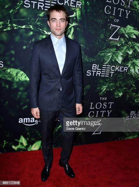 Robert Pattinson arrives at the Premiere Of Amazon Studios' 'The Lost City Of Z' at ArcLight Hollywood on April 5 2017 in Hollywood California