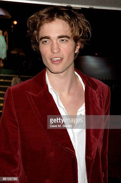 Robert Pattinson arrives at the World Premiere of 'Harry Potter And The Goblet Of Fire' at the Odeon Leicester Square on November 6 2005 in London...