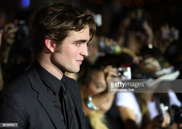 Robert Pattinson arrives to the Los Angeles premiere of 'Twilight' at Mann Village and Bruin Theaters in Los Angeles CA on November 17 2008