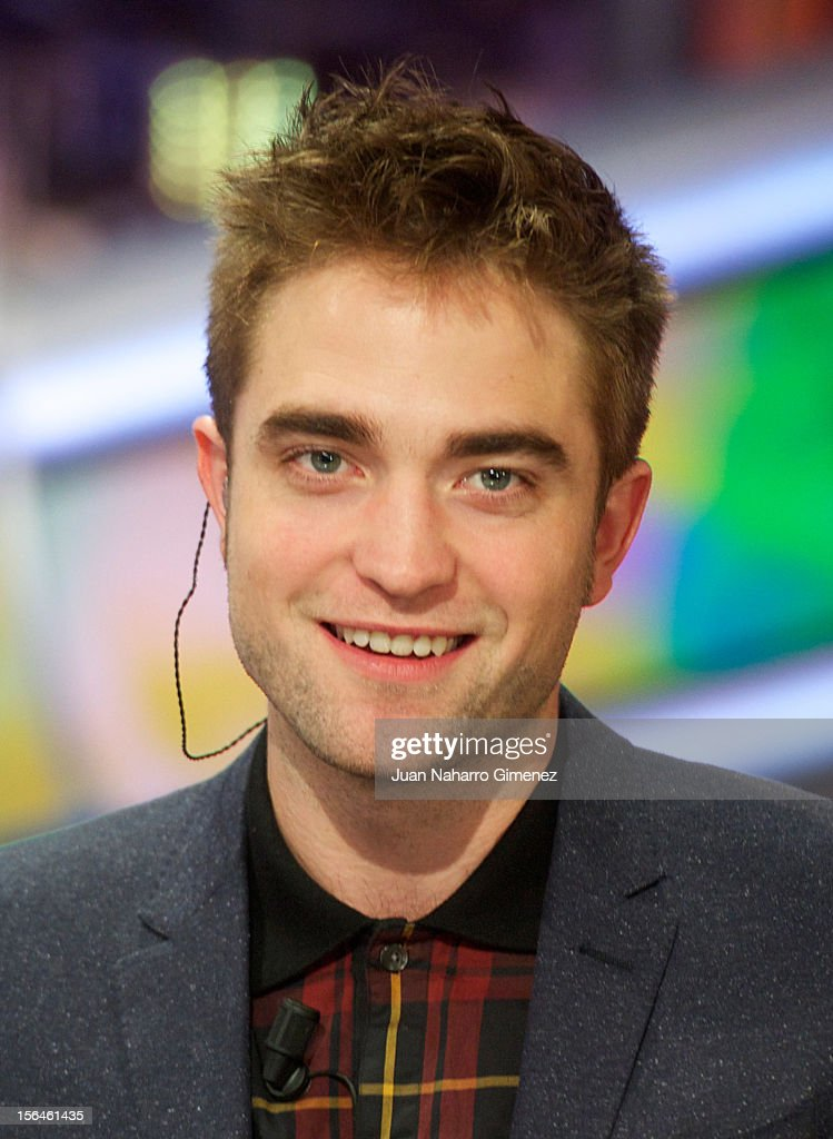 <a gi-track='captionPersonalityLinkClicked' href=/galleries/search?phrase=Robert+Pattinson&family=editorial&specificpeople=734445 ng-click='$event.stopPropagation()'>Robert Pattinson</a> attends 'El Hormiguero' Tv show at Vertice Studio on November 15, 2012 in Madrid, Spain.