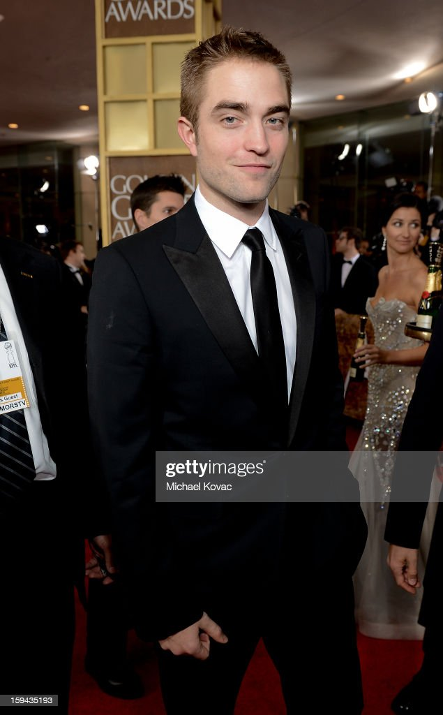 <a gi-track='captionPersonalityLinkClicked' href=/galleries/search?phrase=Robert+Pattinson&family=editorial&specificpeople=734445 ng-click='$event.stopPropagation()'>Robert Pattinson</a> attends Moet & Chandon At The 70th Annual Golden Globe Awards Red Carpet at The Beverly Hilton Hotel on January 13, 2013 in Beverly Hills, California.