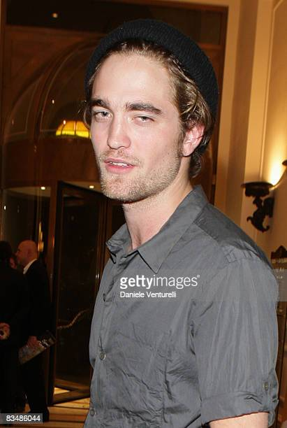 Robert Pattinson attends the Ciak Magazine Party at Hotel Exedra on October 29 2008 in Rome Italy