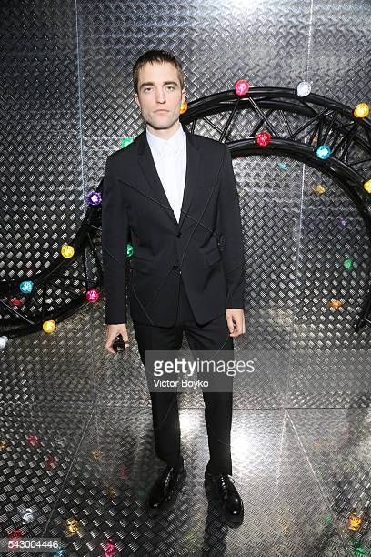 Robert Pattinson attends the Dior Homme Menswear Spring/Summer 2017 show as part of Paris Fashion Week on June 25 2016 in Paris France