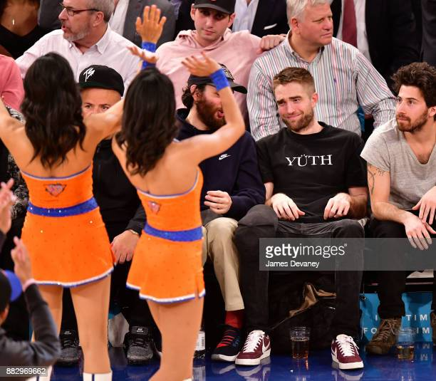 Robert Pattinson attends the Miami Heat Vs New York Knicks game at Madison Square Garden on November 29 2017 in New York City
