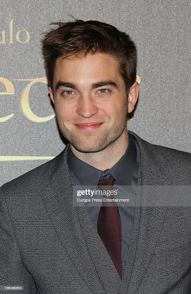 Robert Pattinson attends 'The Twilight Saga: Breaking Dawn - Part 2' photocall at Kinepolis Cinema on November 15, 2012 in Madrid, Spain.
