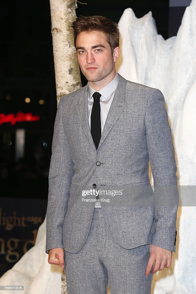 <a gi-track='captionPersonalityLinkClicked' href=/galleries/search?phrase=Robert+Pattinson&family=editorial&specificpeople=734445 ng-click='$event.stopPropagation()'>Robert Pattinson</a> attends the 'Twilight Saga: Breaking Dawn Part 2' Germany Premiere at CineStar on November 16, 2012 in Berlin, Germany.